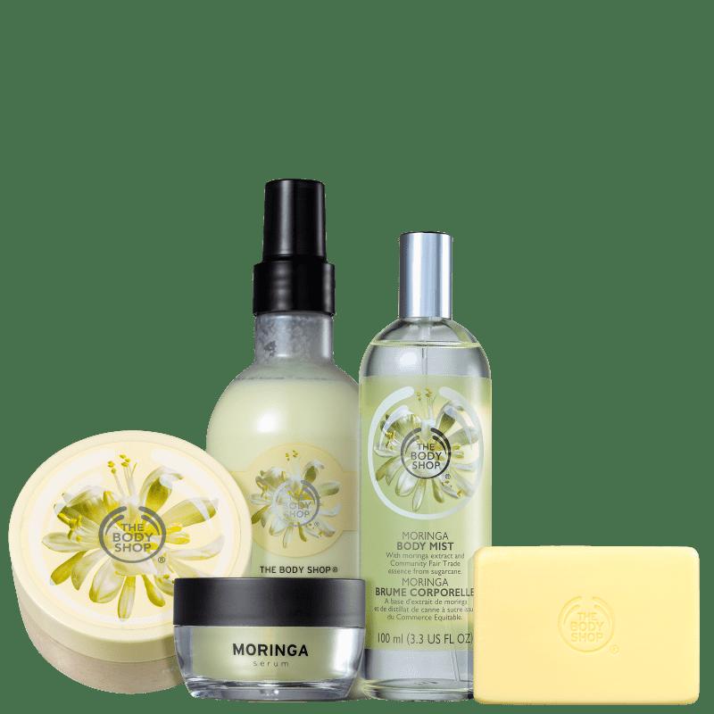 Kit The Body Shop Moringa Hidratação Suave (5 Produtos)