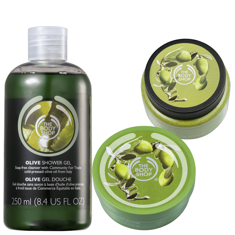 Kit The Body Shop Olive (3 Produtos)