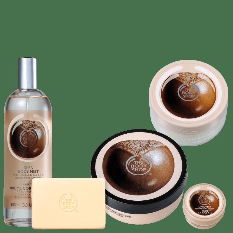 Kit The Body Shop Shea Hidratação Profunda (5 Produtos)