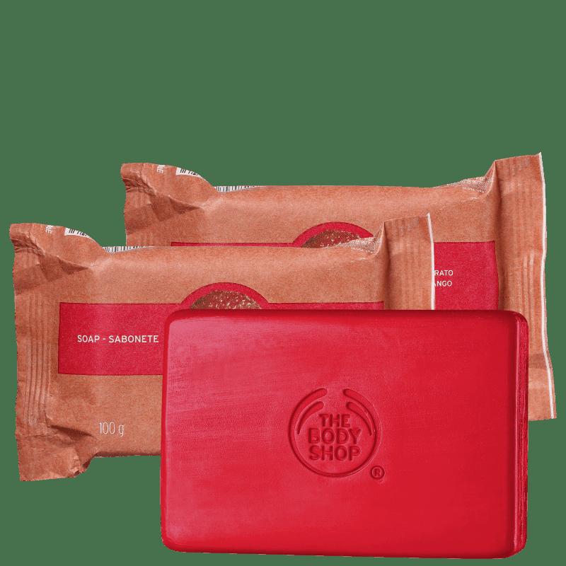 Kit The Body Shop Strawberry - Sabonete em Barra 3x100g