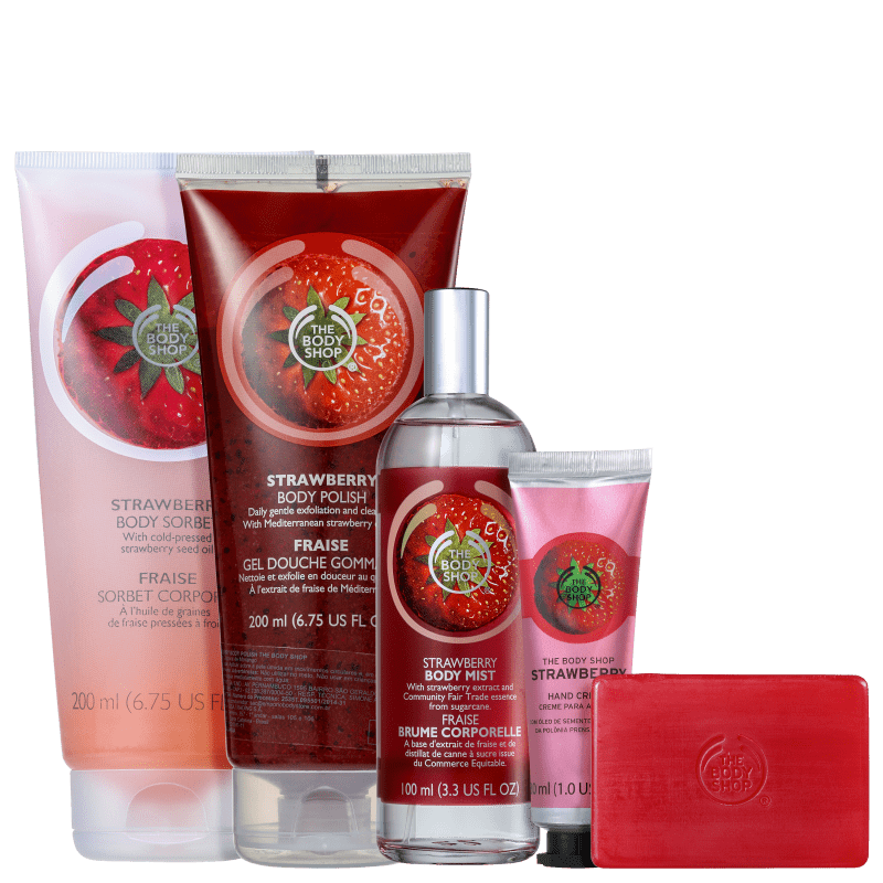 Kit The Body Shop Strawberry Sorbet (5 Produtos)
