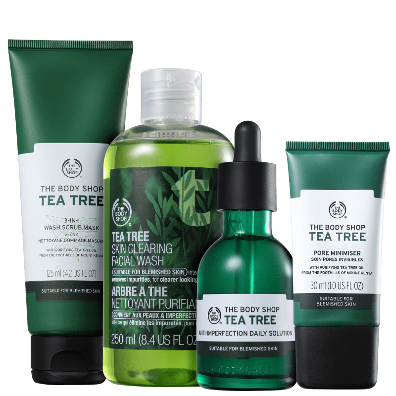 Kit The Body Shop Tea Tree Aperfeiçoador (4 Produtos)