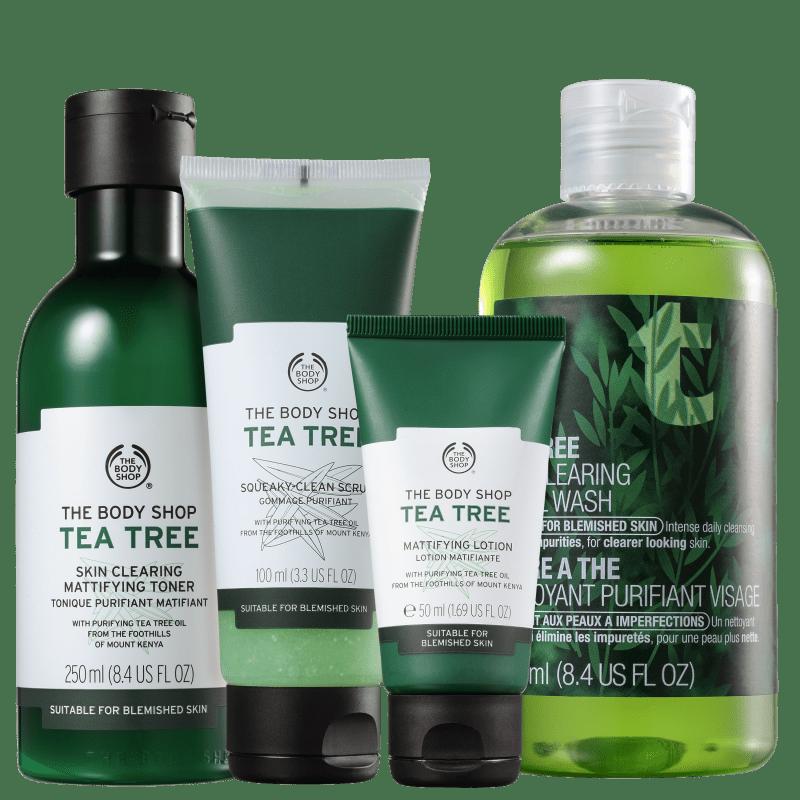 Kit The Body Shop Tea Tree Cuidado Diário (4 Produtos)