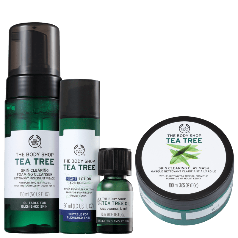 Kit The Body Shop Tea Tree Cuidado Intenso (4 Produtos)