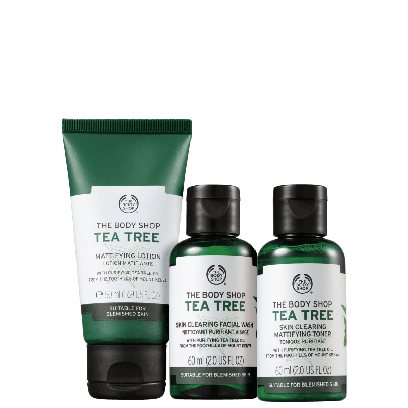 Kit The Body Shop Tea Tree Essenciais (3 Produtos)