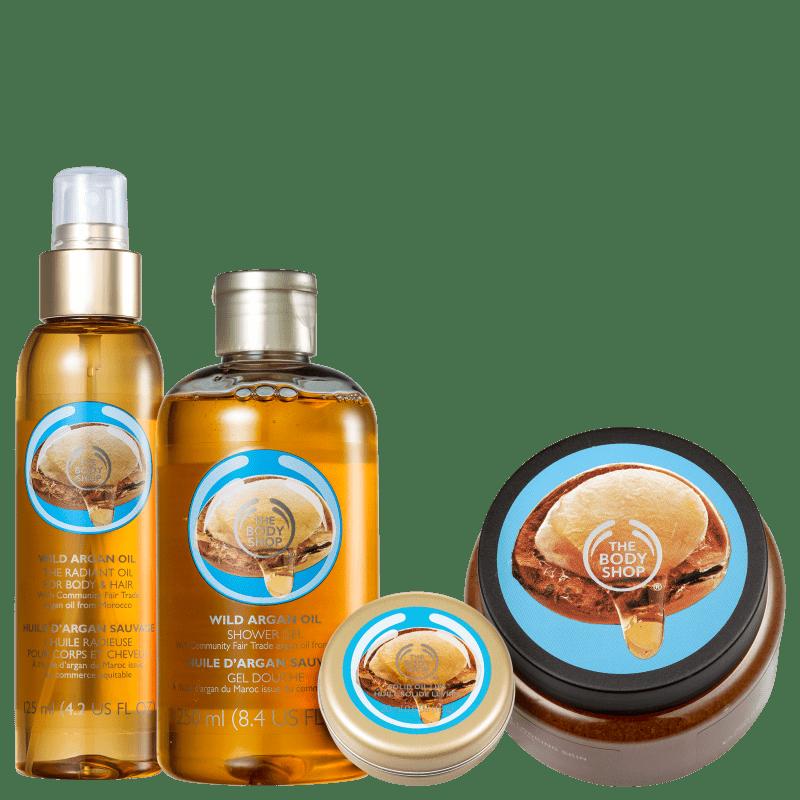 Kit The Body Shop Wild Argan Oil (4 Produtos)