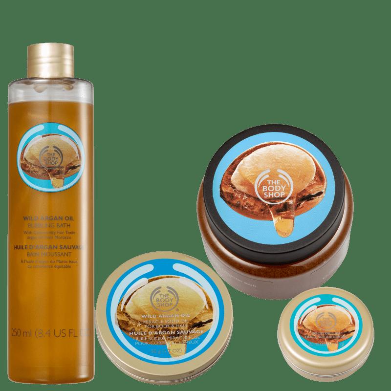 Kit The Body Shop Wild Argan Oil Banho e Hidratação (4 Produtos)