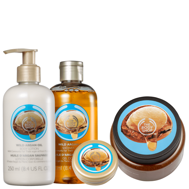 Kit The Body Shop Wild Argan Oil Hidratação Intensiva (4 Produtos)