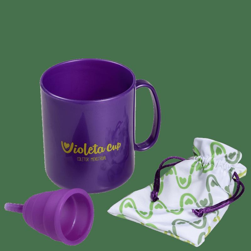Kit Violeta Cup Violeta Tipo B (-30 anos ou sem filhos) - Coletor Menstrual + Higienizador de Coletor