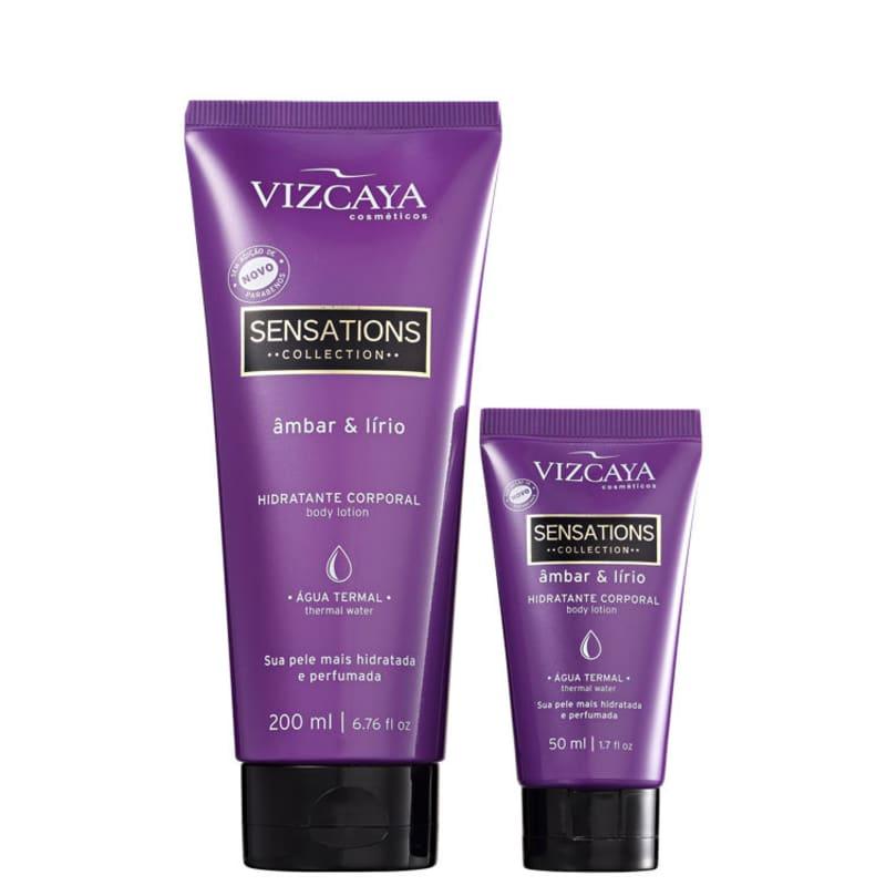 Kit Vizcaya Sensations Âmbar & Lírio Hidratante (2 Produtos)