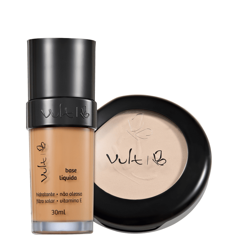 Kit Vult Make Up 04 Marrom Translúcido Duo (2 produtos)