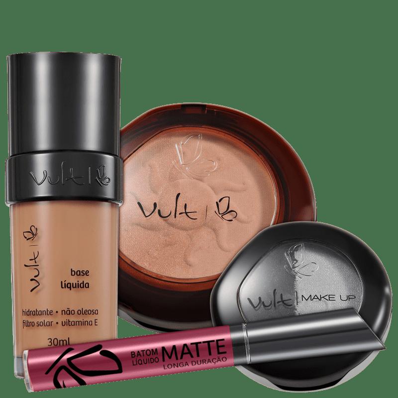 Kit Vult Make Up 06 Marrom Duo Soleil Matte (4 produtos)