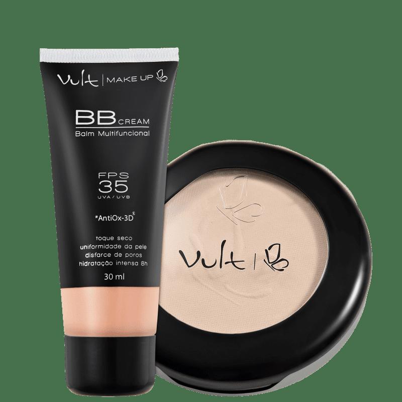 Kit Vult Make Up Balm Bege Translúcido (2 produtos)
