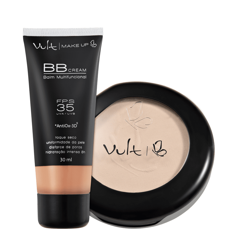 Kit Vult Make Up Balm Marrom Translúcido (2 produtos)