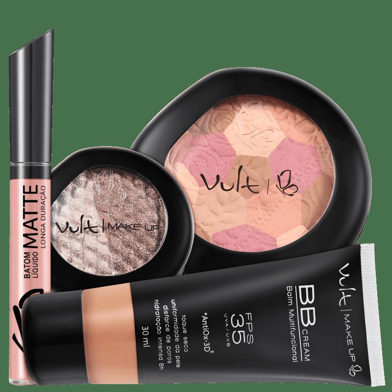 Kit Vult Make Up Multifuncional Baked Marrom FPS 35 (4 produtos)