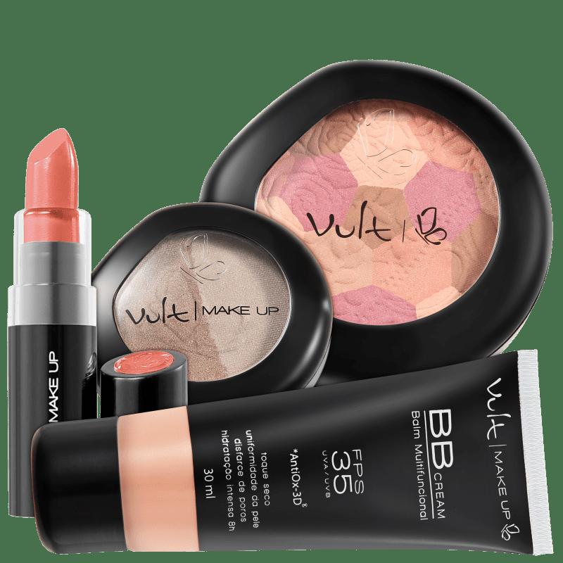 Kit Vult Make Up Multifuncional Moisaco Bege FPS 35 (4 produtos)