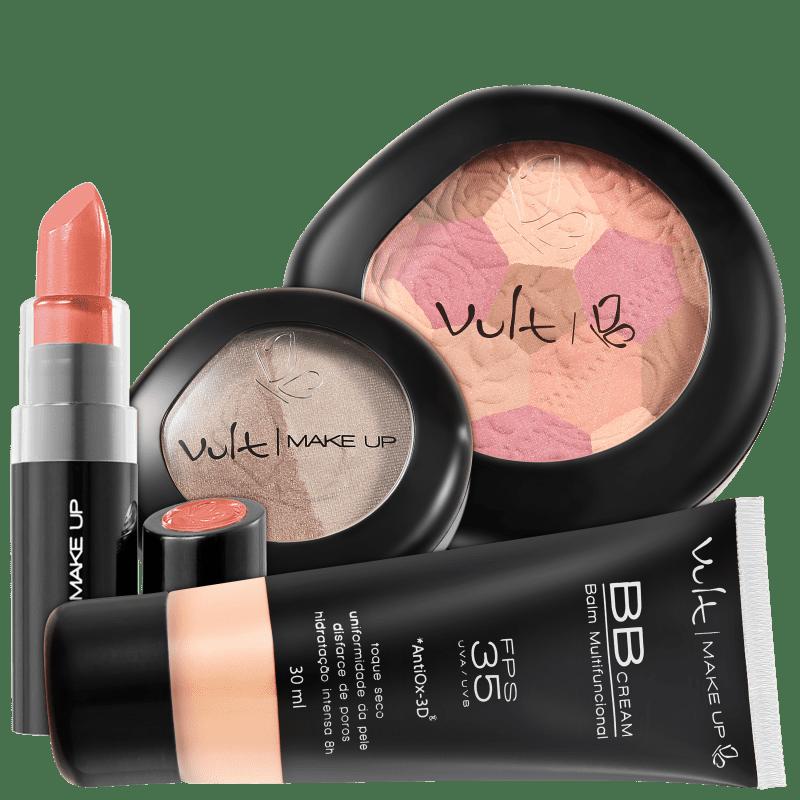 Kit Vult Make Up Multifuncional Moisaco Rosa FPS 35 (4 produtos)