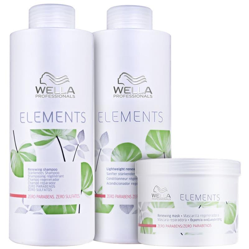 Kit Wella Professionals Elements Renewing Trio Salon (3 Produtos)