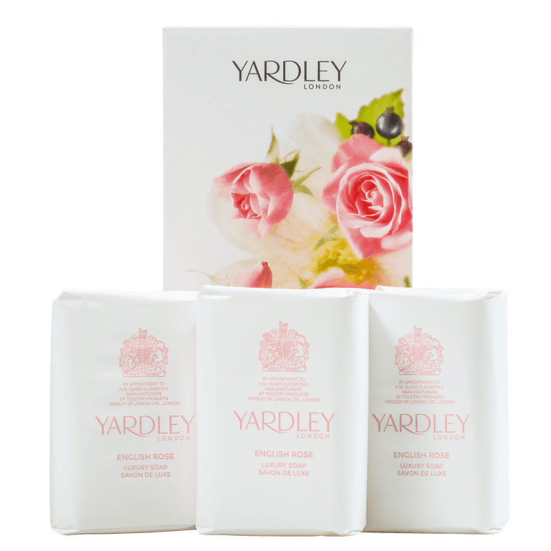 Kit Yardley English Rose Luxury - Sabonetes em Barra 3x100g