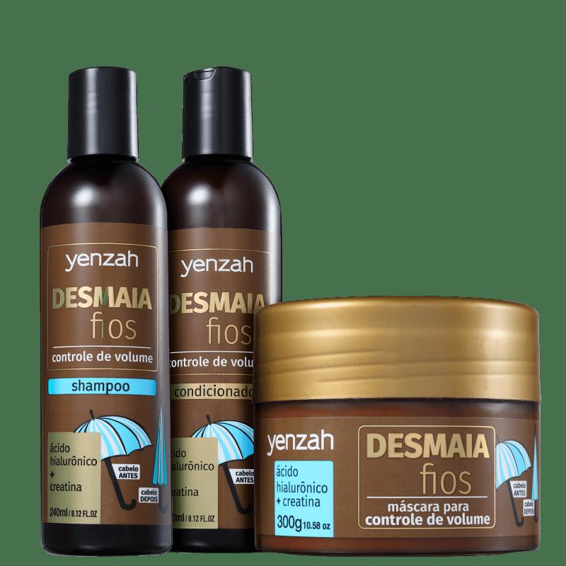 Kit Yenzah Desmaia Fios Tratamento (3 Produtos)