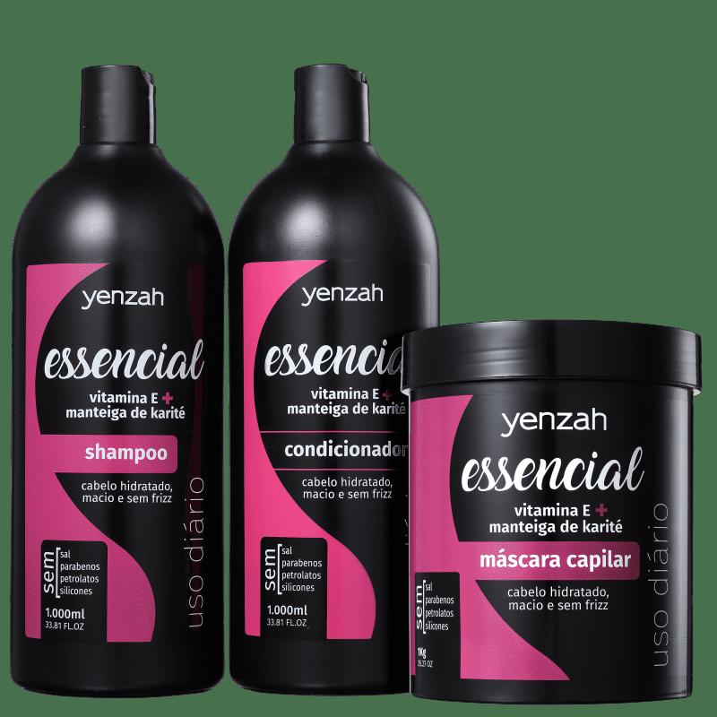 Kit Yenzah Essencial Tratamento (3 Produtos)