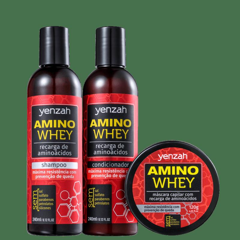 Kit Yenzah Power Whey Amino (3 Produtos)