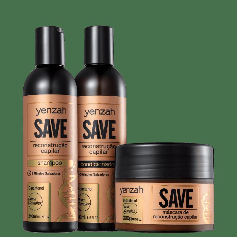 Kit Yenzah Save Reconstrução Capilar Basic (3 Produtos)