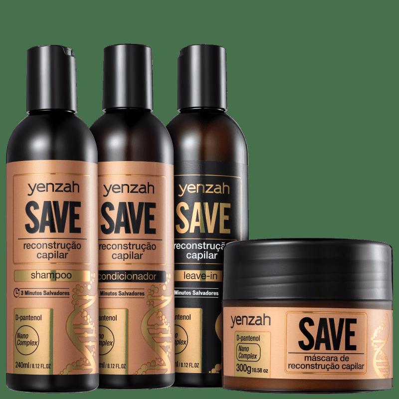 Kit Yenzah Save Reconstrução Capilar Completo (4 Produtos)