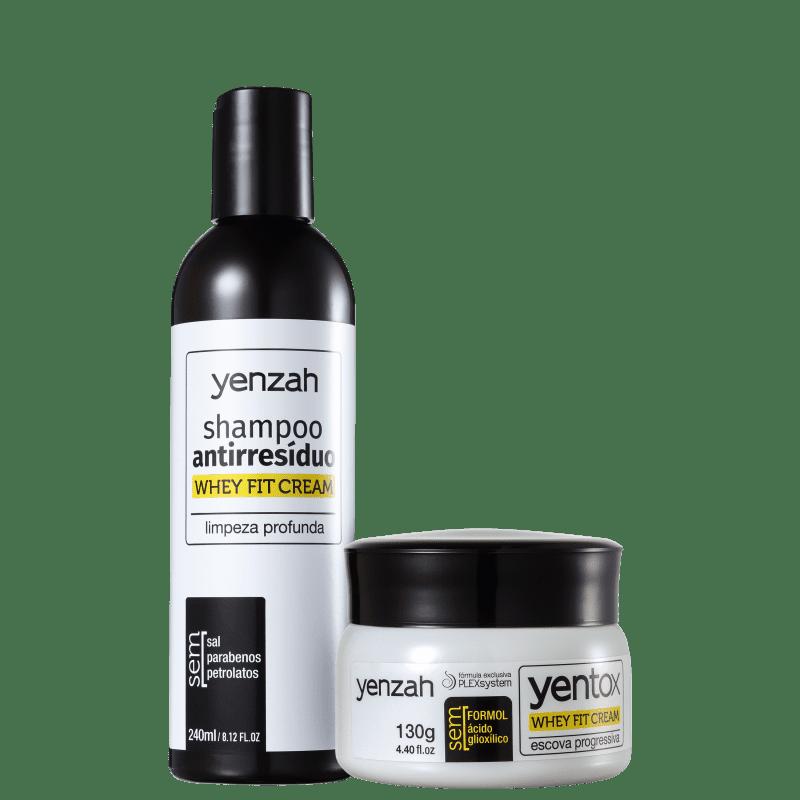 Kit Yenzah Power Whey Fit Cream Progressiva (2 Produtos)
