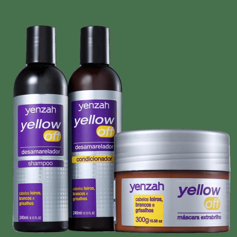 Kit Yenzah Yellow Off Brilho  (3 Produtos)