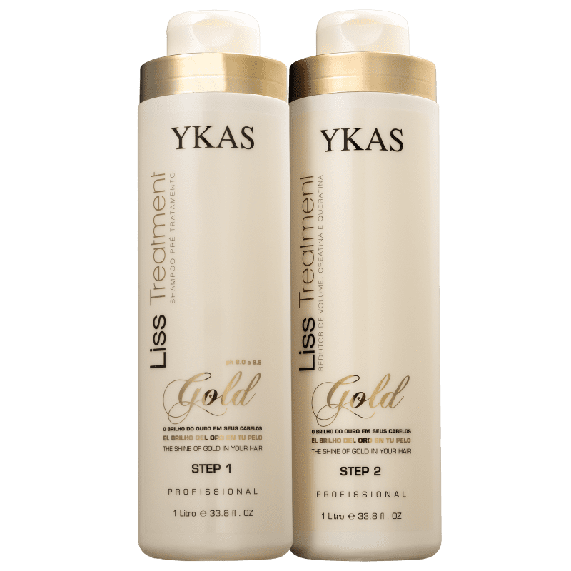 Kit YKAS Liss Treatment Gold Duo Pro (2 Produtos)