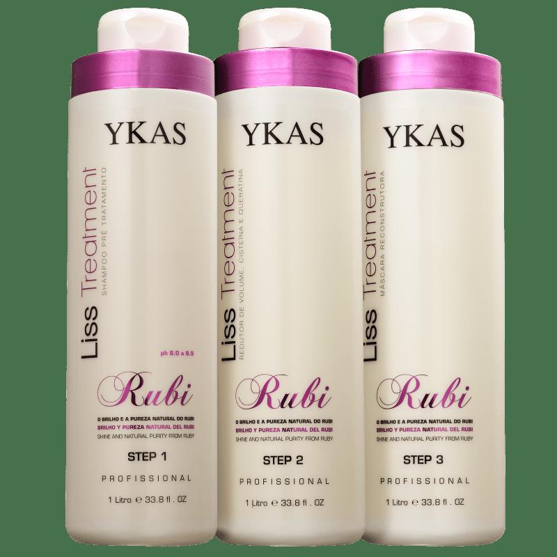 Kit YKAS Liss Treatment Rubi (3 Produtos)