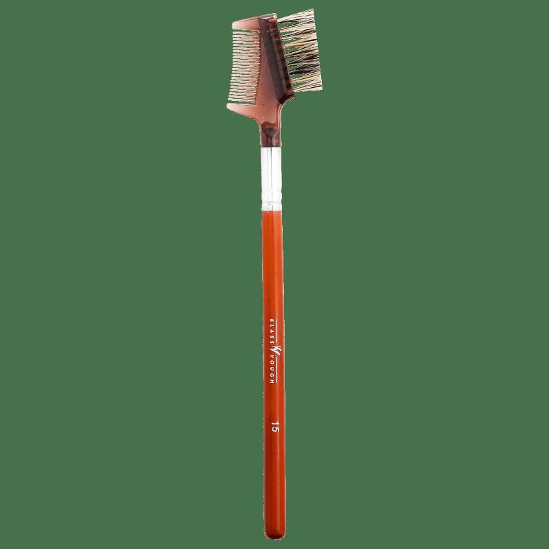 Klass Vough Brown Line 15 - Pincel para Cílios e Sobrancelhas