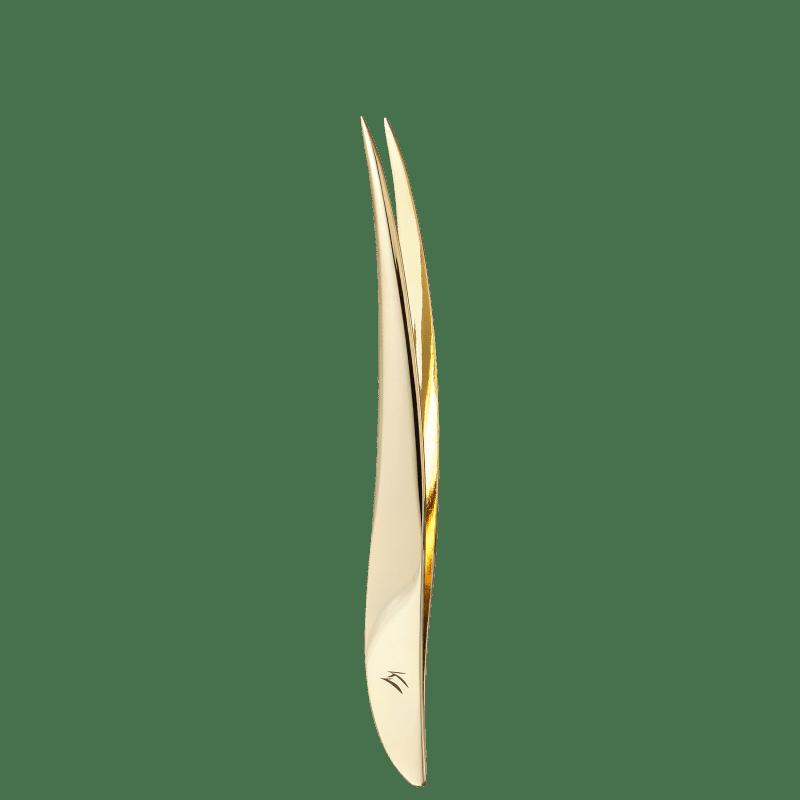 Klass Vough TW-3077G Fina Dourada - Pinça de Precisão