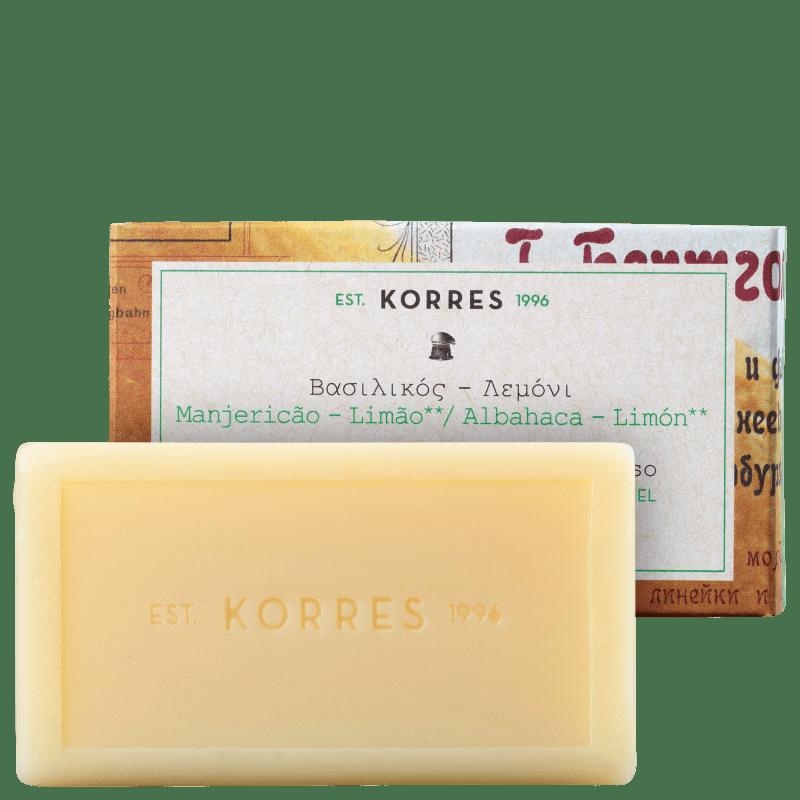 Korres Manjericão-Limão - Sabonete em Barra 90g