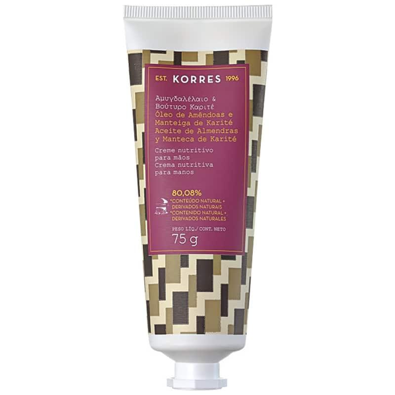 Korres Óleo de Amêndoas e Manteiga de Karité - Creme Nutritivo para as Mãos 75g