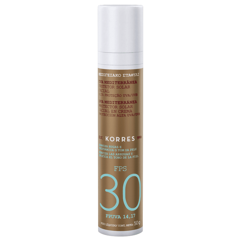 Korres Uva Mediterrânea FPS 30 - Protetor Solar Facial 50g