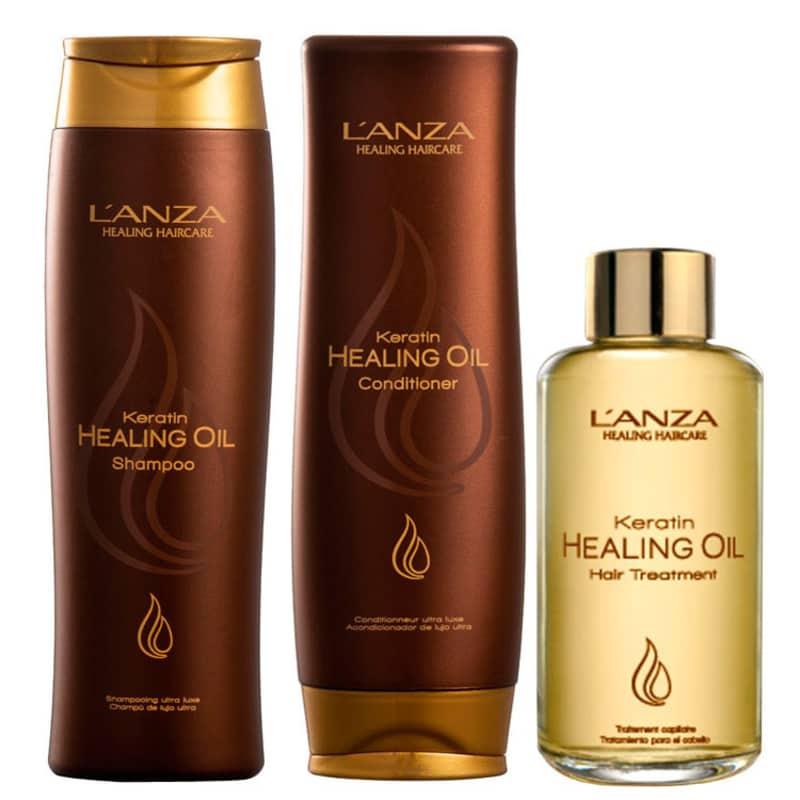 Kit L'Anza Keratin Healing Oil Treatment (3 Produtos)