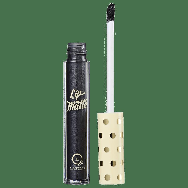 Latika Lip Preto Metálico Nº42 - Batom Líquido Metálico 4ml