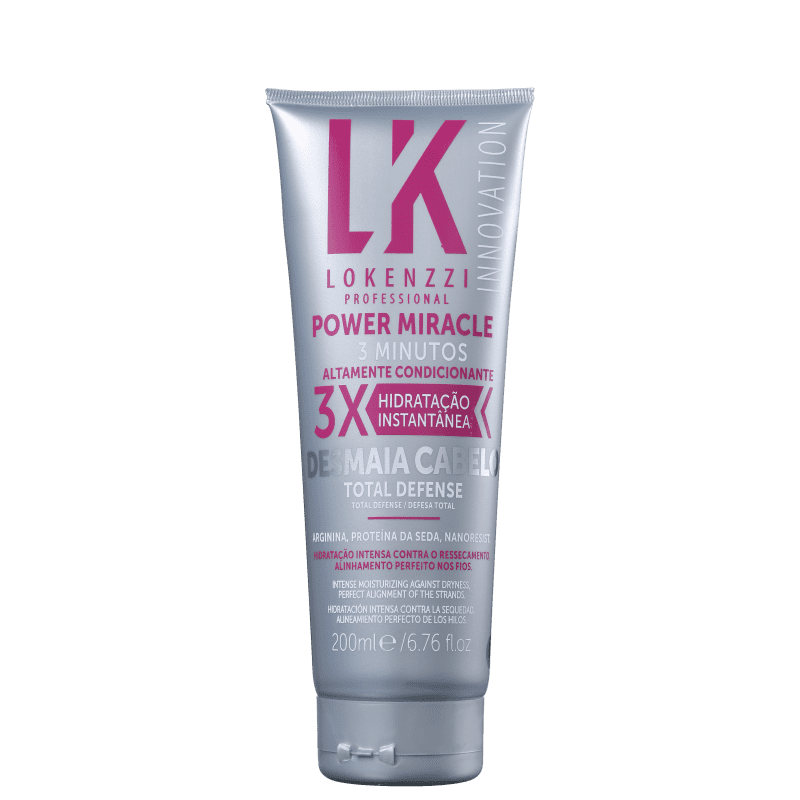 Lokenzzi Power Miracle Total Defense - Máscara Capilar 200ml