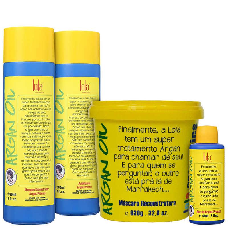 Kit Lola Cosmetics Argan Oil Full (4 Produtos)