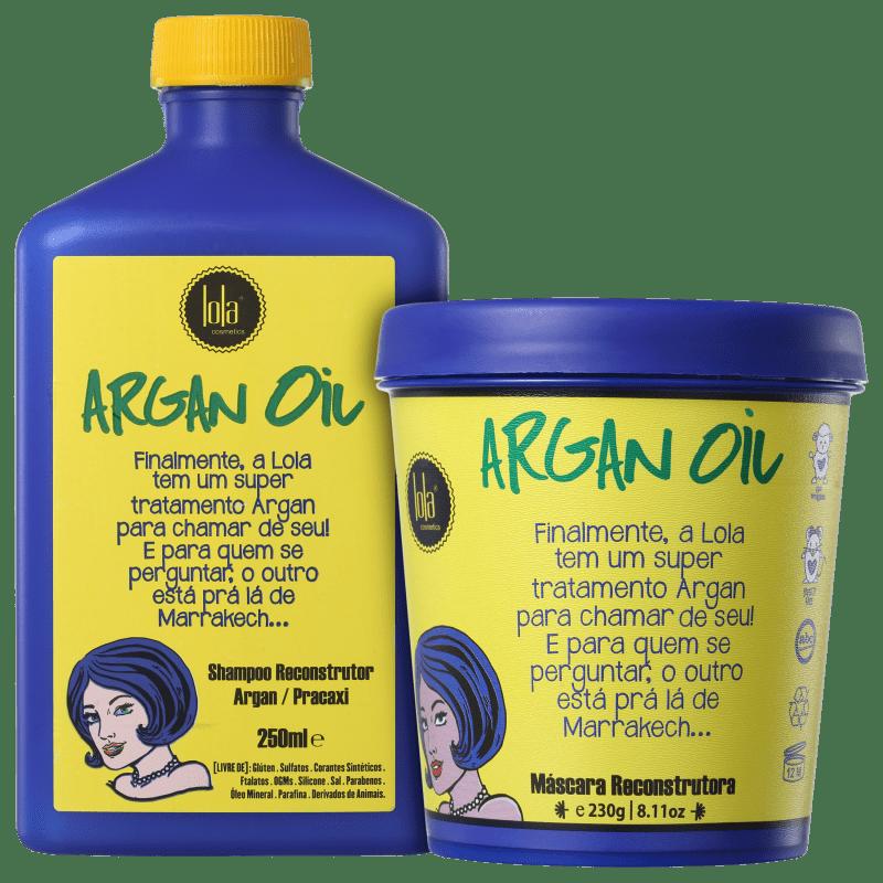 Kit Lola Cosmetics Argan Oil Reconstrutor Duo (2 Produtos)