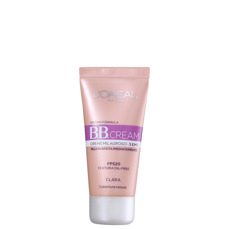 L'Oréal Paris Creme Milagroso 5 em 1 FPS 20 Claro - BB Cream 30ml