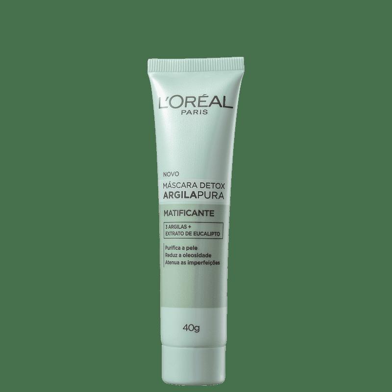 L'Oréal Paris Detox Argila Pura - Máscara Matificante 40g