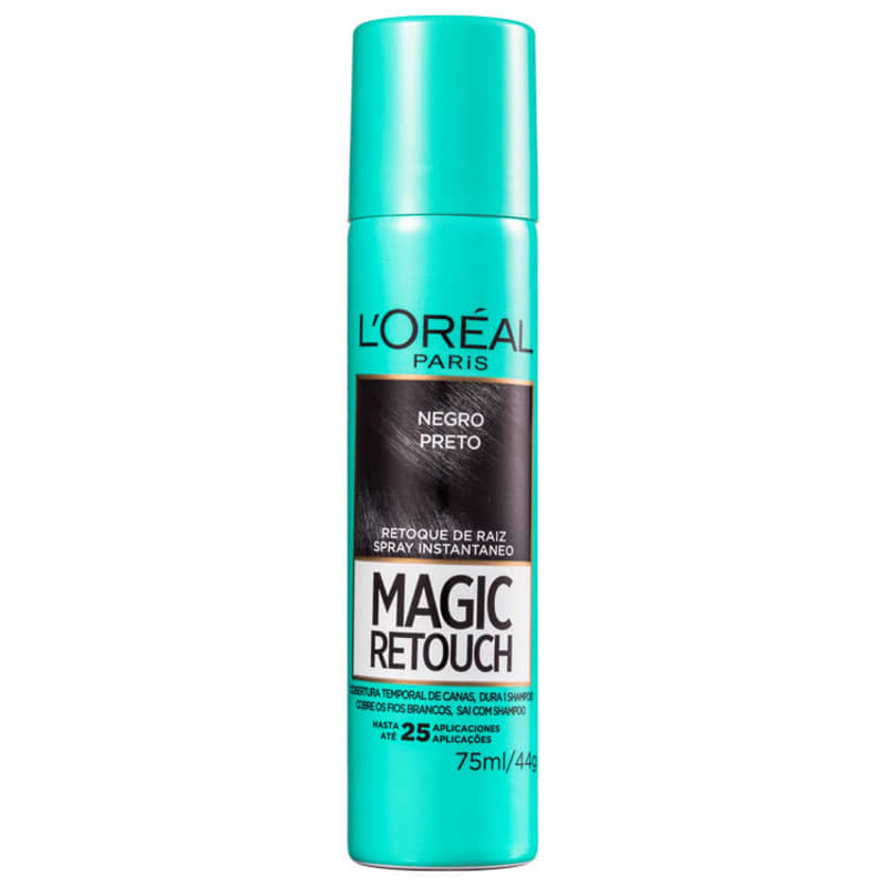 L'Oréal Paris Magic Retouch Preto - Corretivo de Raiz 75ml