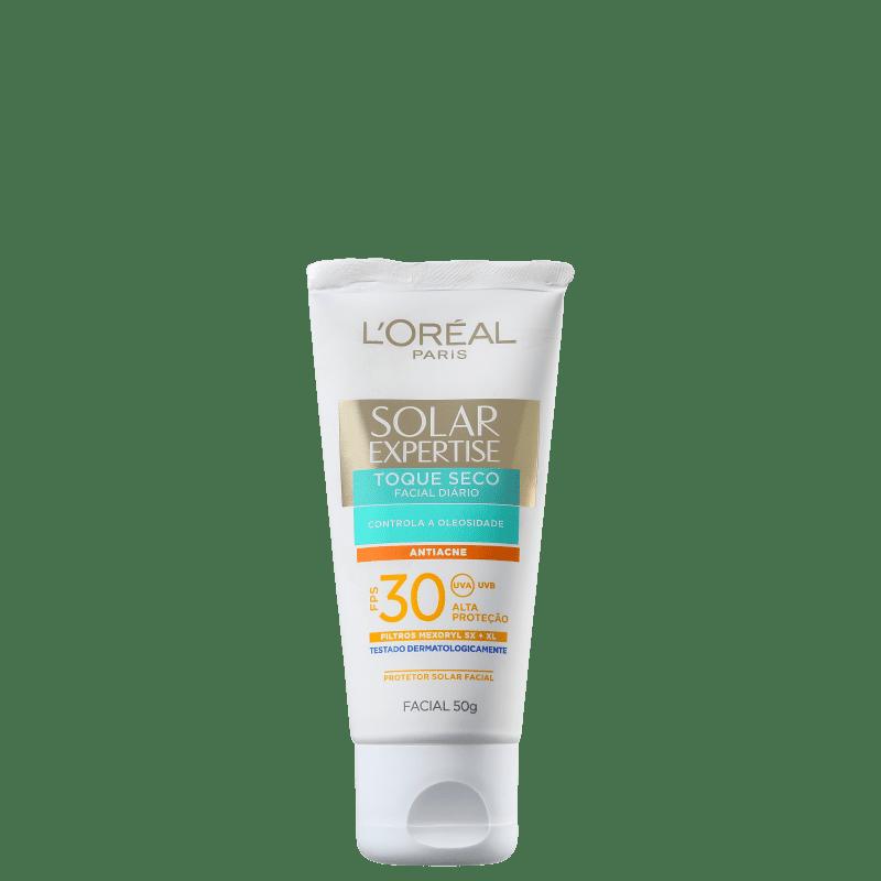 L'Oréal Paris Solar Expertise Toque Seco Antiacne FPS 30 - Protetor Solar Facial 50g
