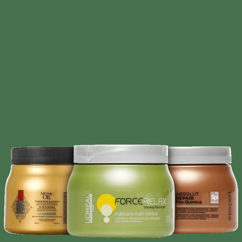 Kit L'Oréal Professionnel Cronograma Capilar Pós-Química (3 Produtos)