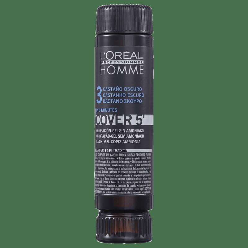 L'Oréal Professionnel Homme Cover 5 Castanho Escuro 3 - Coloração 1x50ml