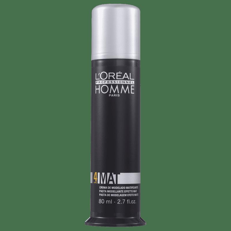 L'Oréal Professionnel Homme Mat Force 4 - Pasta Modeladora 80ml