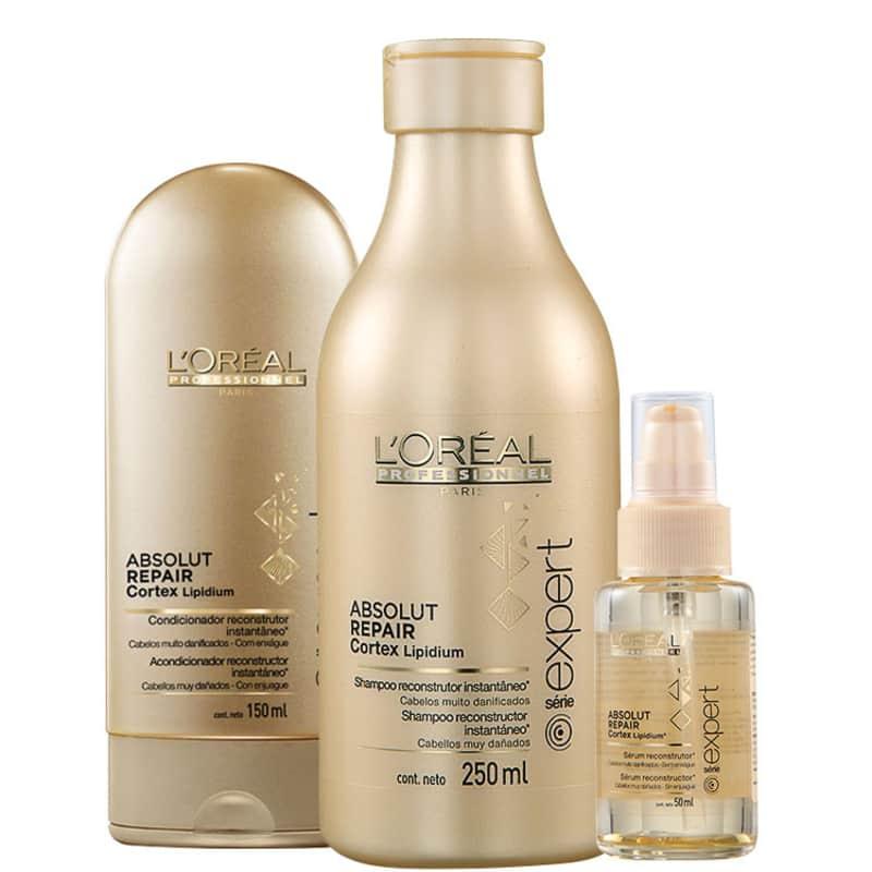 Kit L'Oréal Professionnel Expert Absolut Repair Cortex Lipidium Trio (3 Produtos)